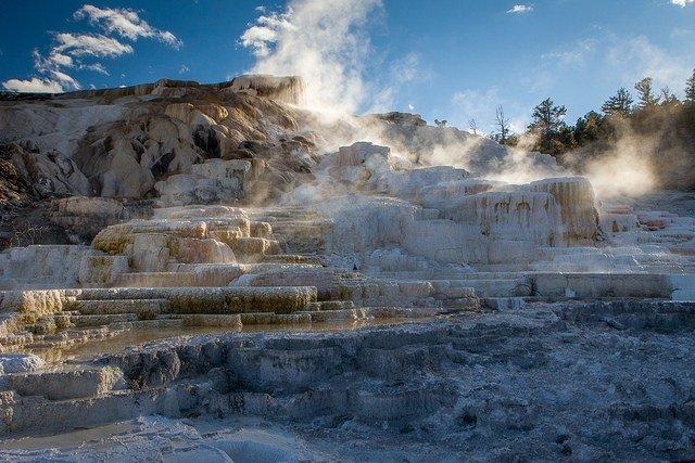 Mammoth Hot Springs Yellowstone Park